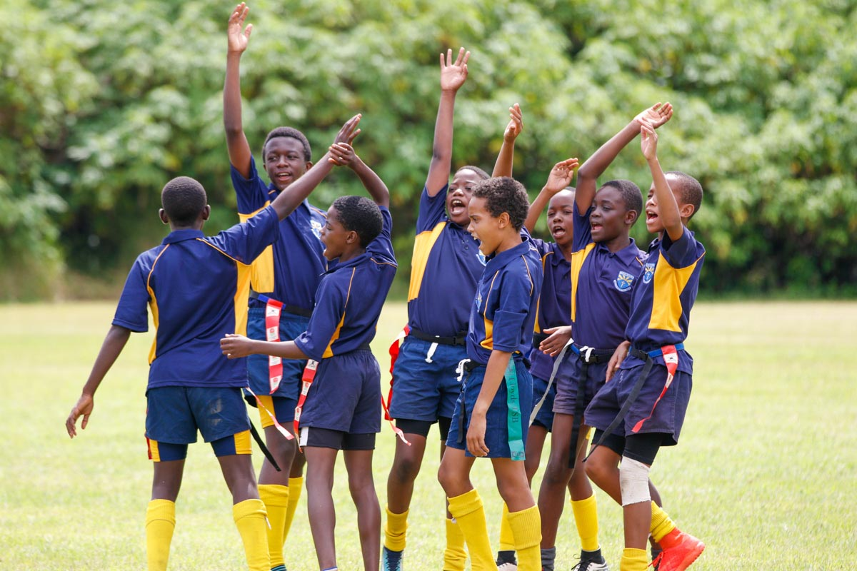 Playing rugby at Chengelo School